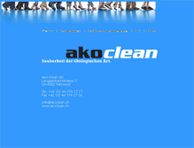 Tablet Preview of akoclean.ch